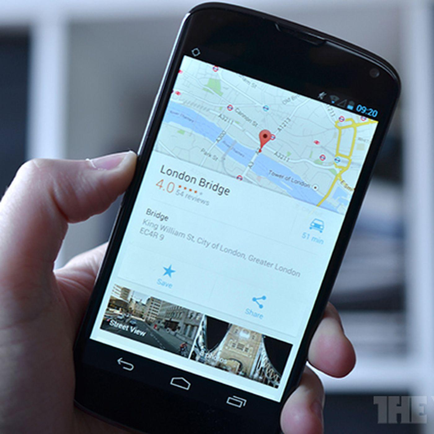 Google Maps for Android: new design, improved navigation