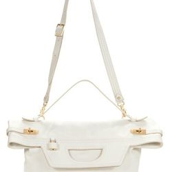 Muriellas clutch in white, $150 (from $365)