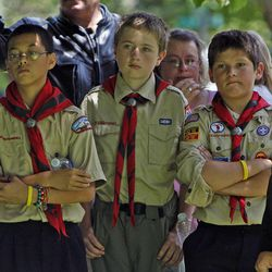 """The Church of Jesus Christ of Latter-day Saints is supporting  the Boy Scouts of America's proposed compromise in allowing gay Scouts """"""""but not gay Scout leaders """""""" to participate fully in Scouting programs."""