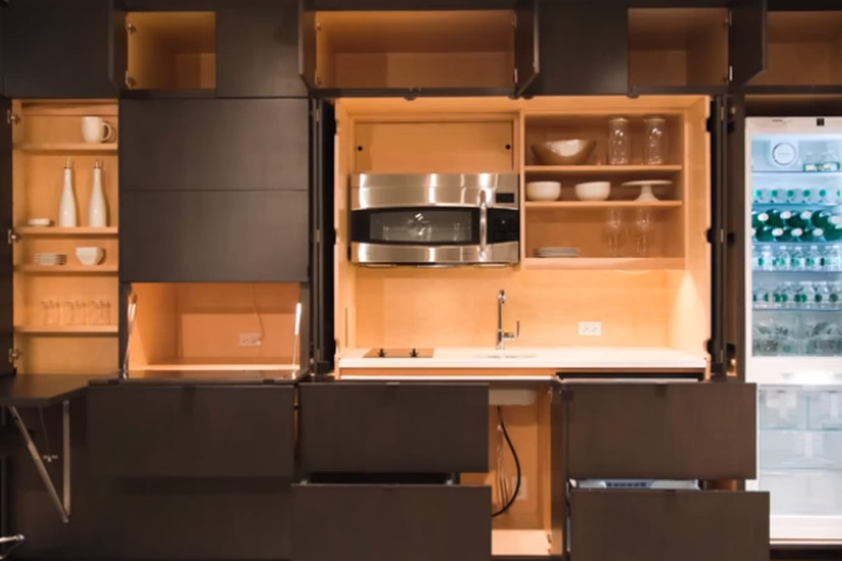 This Modular Wall Unit Holds An Entire Kitchen The Verge