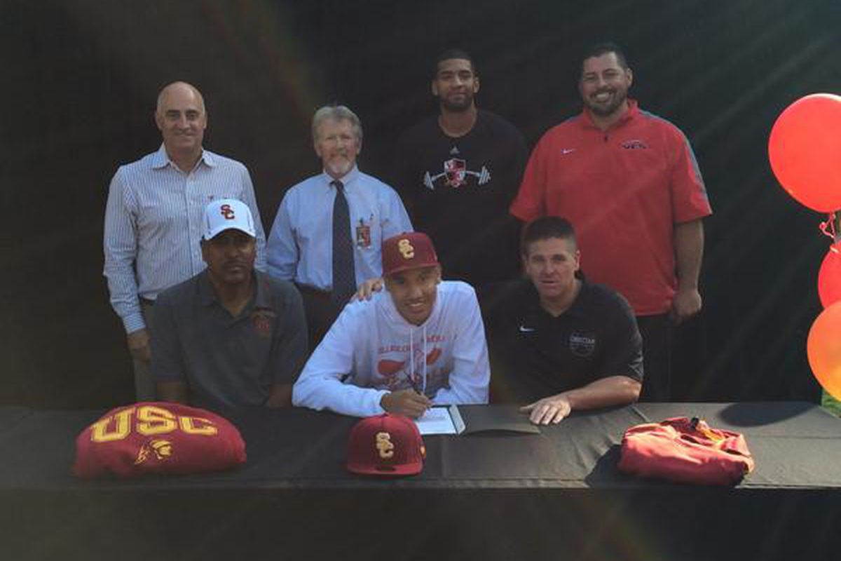 Bennie Boatwright is all smiles after signing with USC.