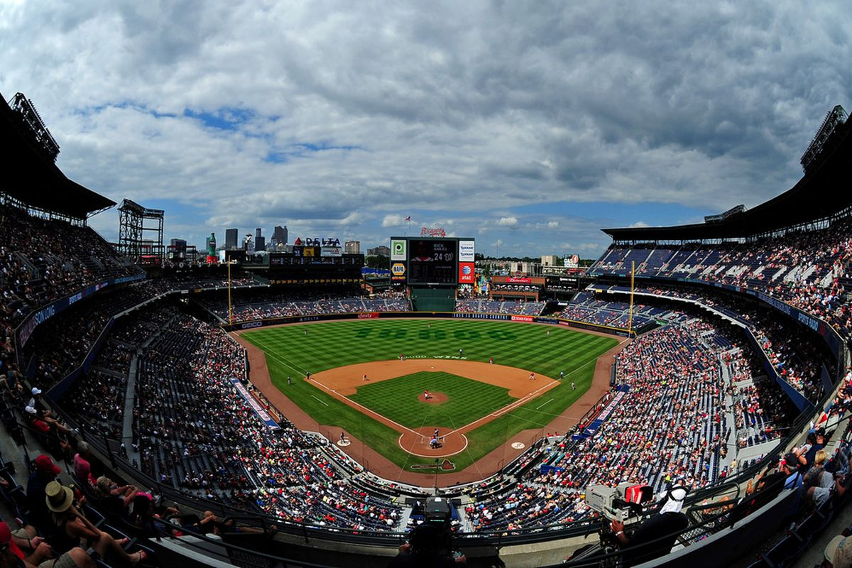 ATLANTA - JULY 17: Turner Field is shown during the game between the Atlanta Braves and the Washington Nationals on July 17, 2011 in Atlanta, Georgia. (Photo by Scott Cunningham/Getty Images)