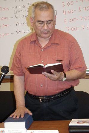 The Rev. Rosendo Urrabazo, the head of the Claretians Catholic religious order in the United States.