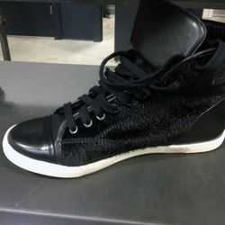 Pony hair and leather sneakers for $97, originally almost $200