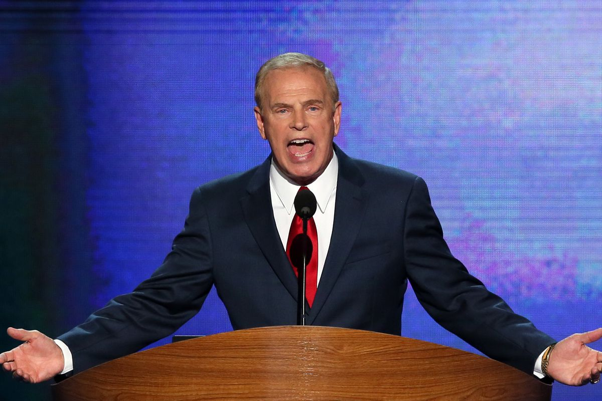 Former Ohio Governor Ted Strickland, at the Democratic Convention in 2012.
