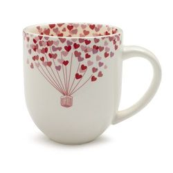 Sur La Table's Valentine's Day Mug, $10, is spruced up with a heart-shaped hot-air balloon.