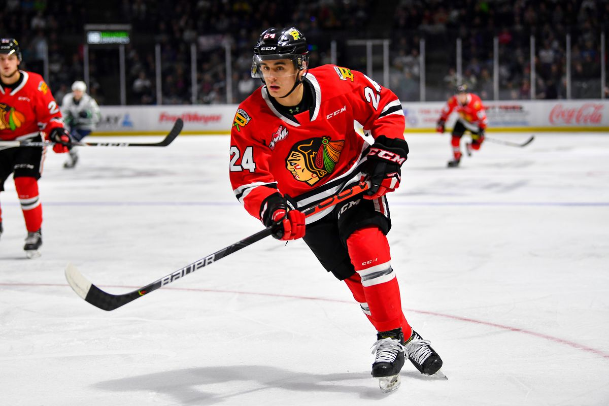 KENT, WASHINGTON - DECEMBER 28: Seth Jarvis #24 of the Portland Winterhawks watches the puck during the first period of the match against the Seattle Thunderbirds at the accesso ShoWare Center on December 28, 2019 in Kent, Washington. The Portland Winterhawks top the Seattle Thunderbirds 4-1.