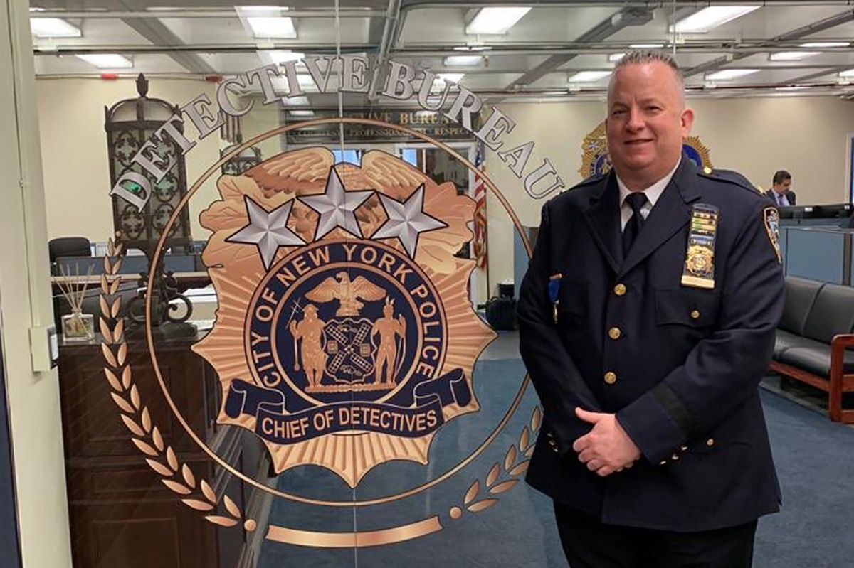 NYPD Chief John Chell in a picture celebrating a previous promotion, dated May 3, 2019.
