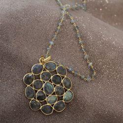 Labradorite pendant necklace, $198