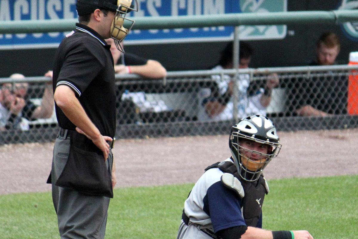 Bryan Anderson, after throwing the ball around the horn following strike two.
