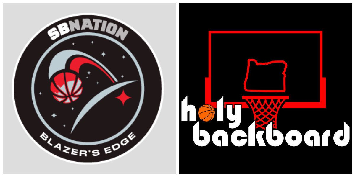 Holy Backboard and Blazers Edge logos next to each other