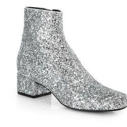 "Saint Laurent glitter leather ankle boots, <a href=""http://www.saksfifthavenue.com/main/ProductDetail.jsp?FOLDER%3C%3Efolder_id=2534374306438397&PRODUCT%3C%3Eprd_id=845524446718902&site_refer=AFF001&mid=13816&siteID=J84DHJLQkR4-bKOKUosMmHAGW8RIeIfeFA&LScr"