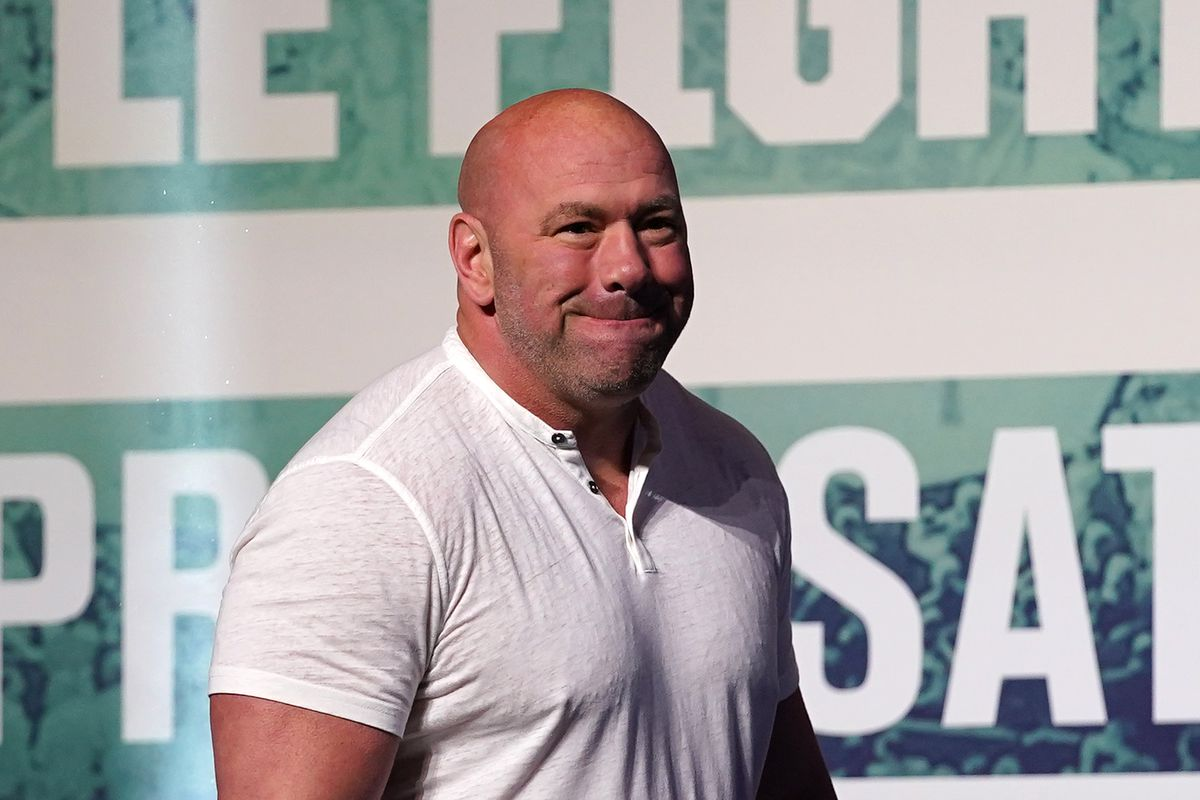 Dana White getting set for the UFC 261 weigh ins in Jacksonville, FL.
