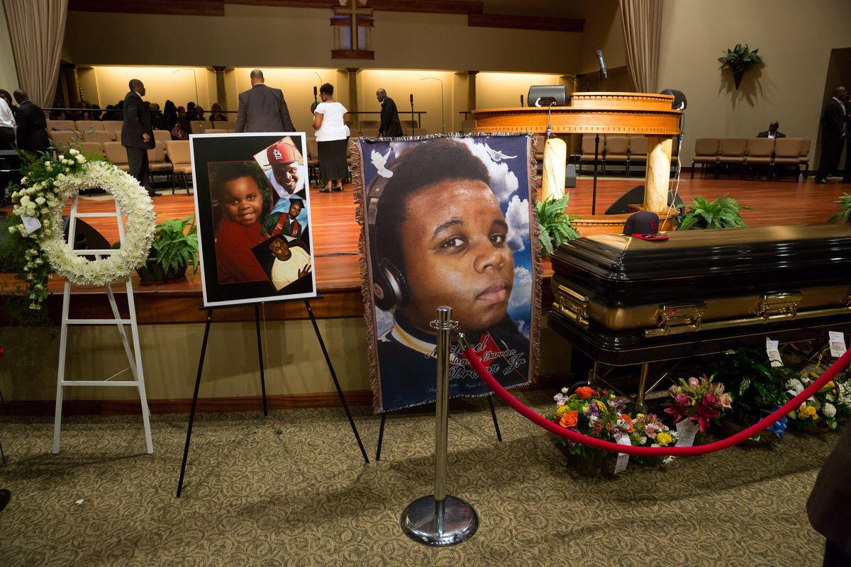 michael brown casket