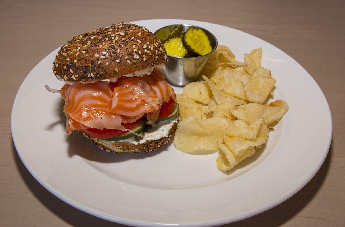 A lox sandwich