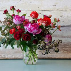 """For tomorrow, <strong>Studio Choo</strong> (the mastermind behind <a href=""""http://www.studiochoo.com/buy-the-book/"""">The Flower Recipe Book</a>) has got you covered. In addition to free pickups from the South SF studio, arrangements (prices range from $45-"""
