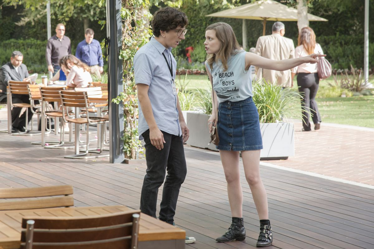 Nice Guy Gus (Paul Rust) and Wild Child Mickey (Gillian Jacobs) hash it  out. Netflix