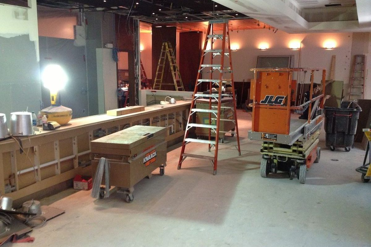 A look inside at the construction at Rx Boiler Room.