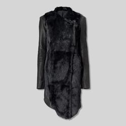 Flux fur Spanish leather jacket, $625
