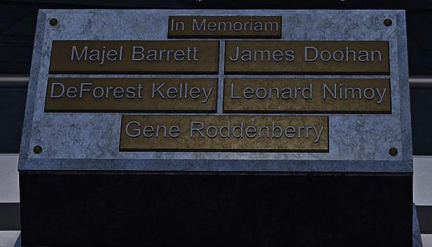 star trek memorial plaque