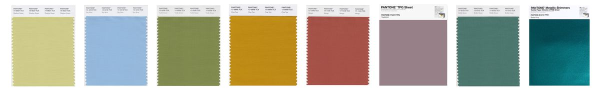 Images of color swatches, which are nature-based hues, arranged horizontally