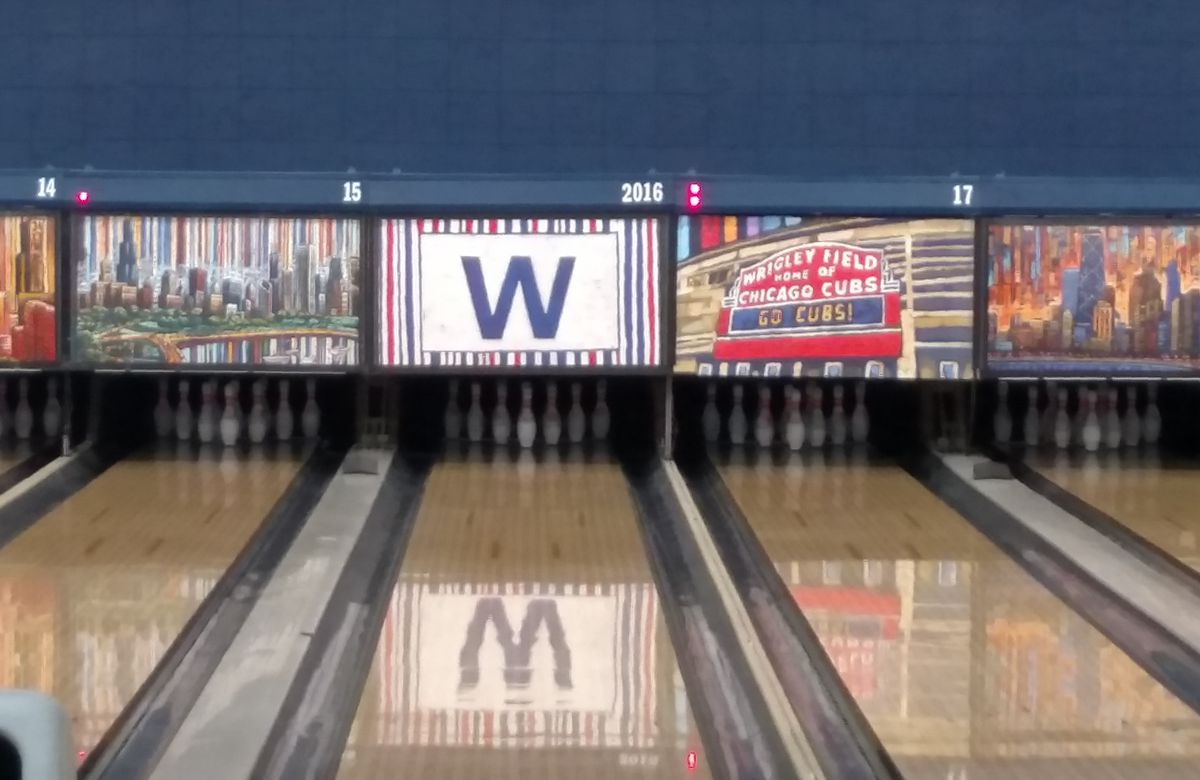 The Cubs W on Lane 2016 at Waveland Bowl.<br>Credit: Dale Bowman