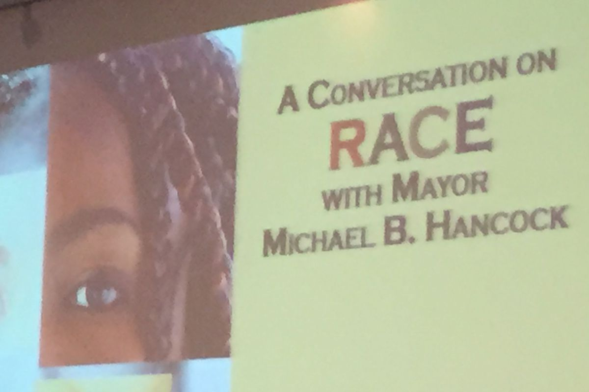 Denver Mayor Michael Hancock's conversation on race included two Denver students as panelists.