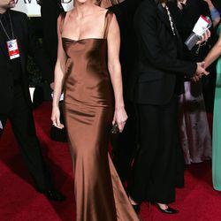 Hilary Swank at the Golden Globe Awards in 2005.