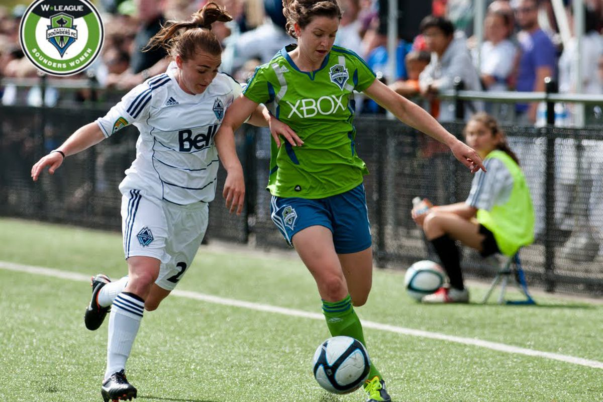 """Megan Manthey v Whitecaps by <a href=""""http://www.facebook.com/janegphotography"""" target=""""new"""">Jane Gershovich</a> courtesy of <a href=""""http://www.sounderswomen.com"""" target=""""new"""">Sounders Women</a>"""