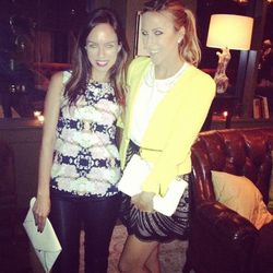 """agjeans @sydnesummer @damselindior at @marieclairemag blogger dinner @sohohouse #agluvsmarieclaire"" - <a href=""http://instagram.com/p/P-zPGGAVtv/"">@AGJeans</a>"