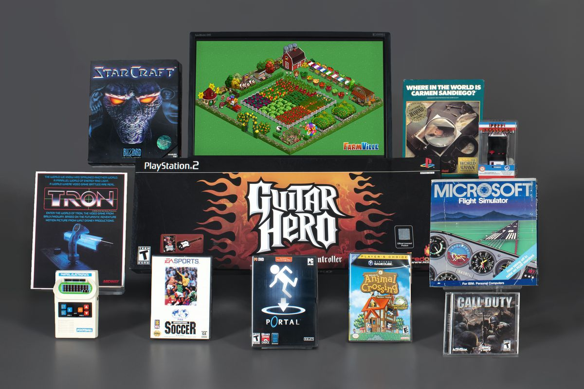 The Strong National Museum of Play's nominees for 2021's Hall of Fame, with each game shown in their original packaging.