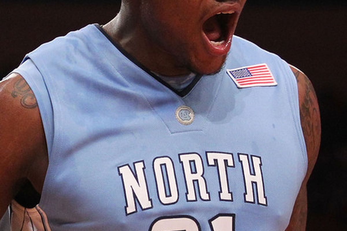 NEW YORK - APRIL 01:  Deon Thompson #21 of the North Carolina Tar Heels reacts against the Dayton Flyers during the 2010 NIT Championship Game at Madison Square Garden on April 1, 2010 in New York, New York.