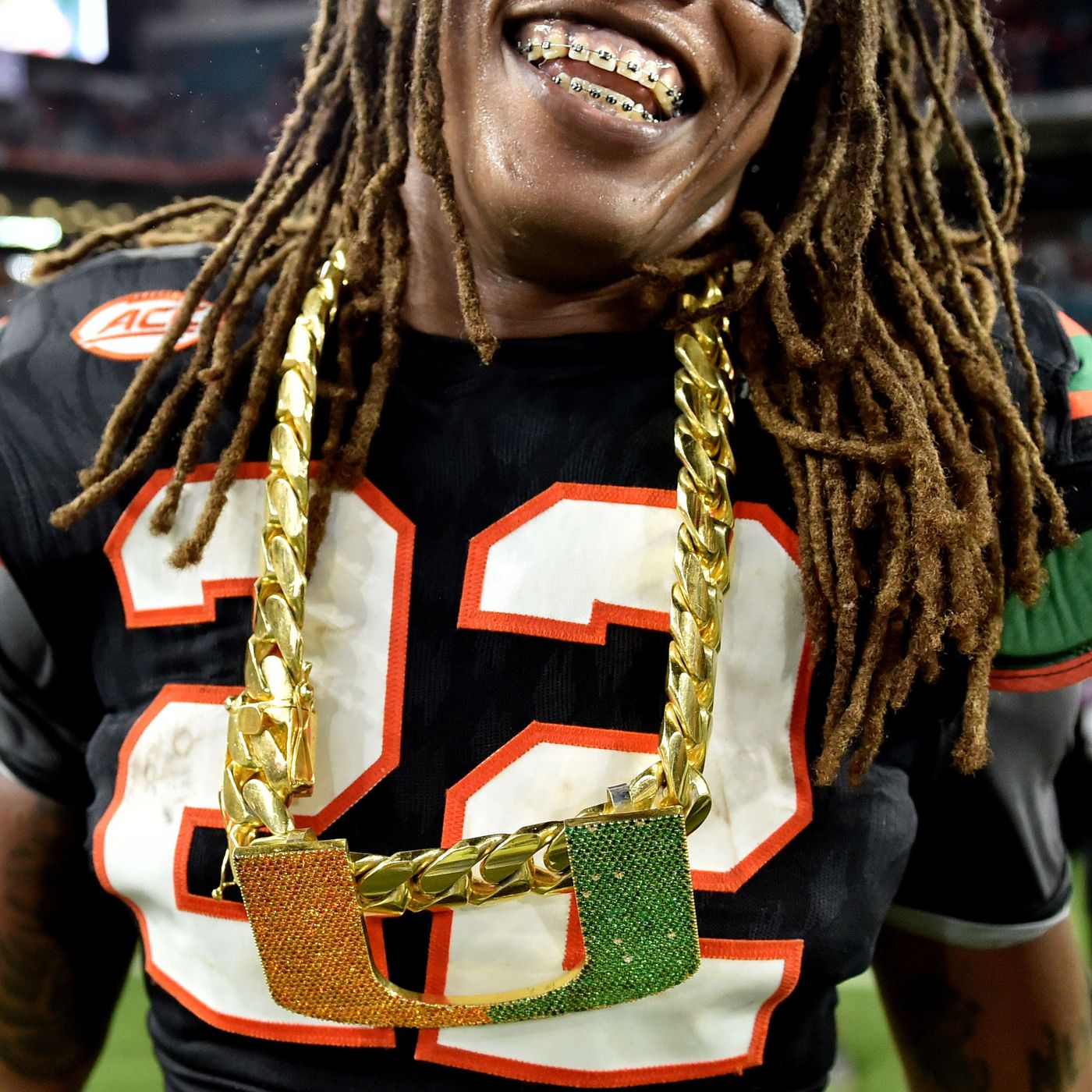 Why Miami Hurricanes wear a big gold chain on the sideline