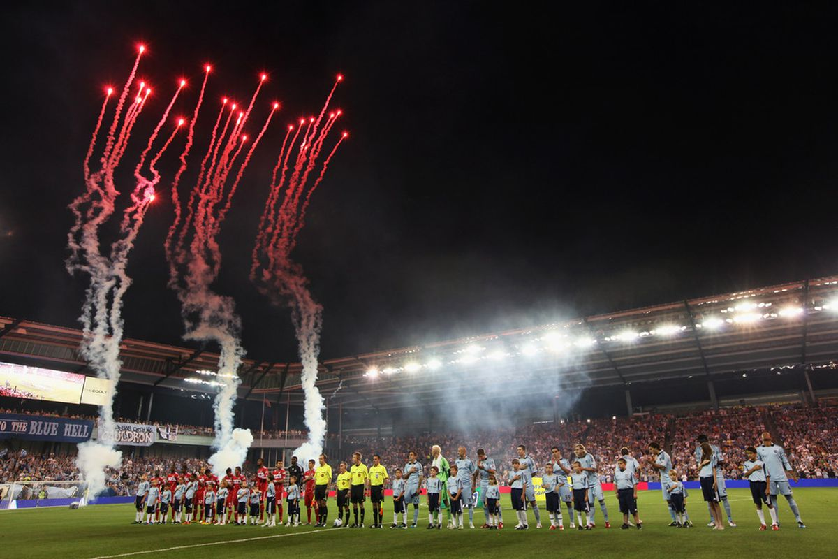 """The Curtains Go Up on the Opening Act in the new """"Theatre of Dreams"""" - <strong>LIVESTRONG Sporting Park</strong>"""