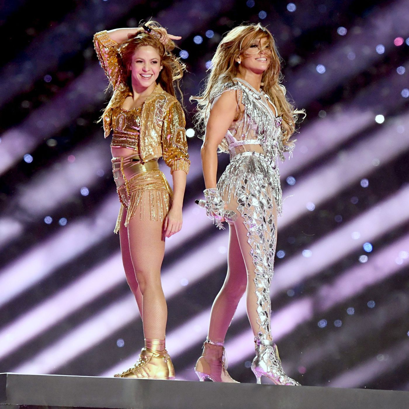 Super Bowl 2020 Full Halftime Show J Lo And Shakira Dazzle Sparkle Shine Vox