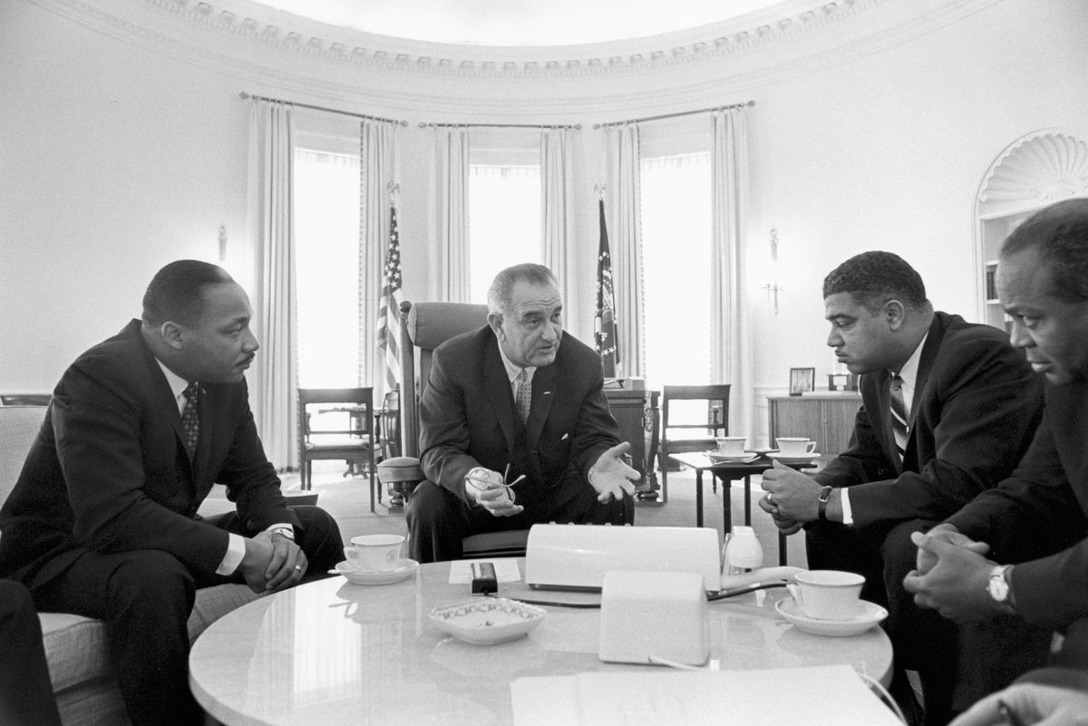 Throughout the course of the civil rights movement, leaders like Martin Luther King Jr. met directly with President Lyndon B. Johnson.