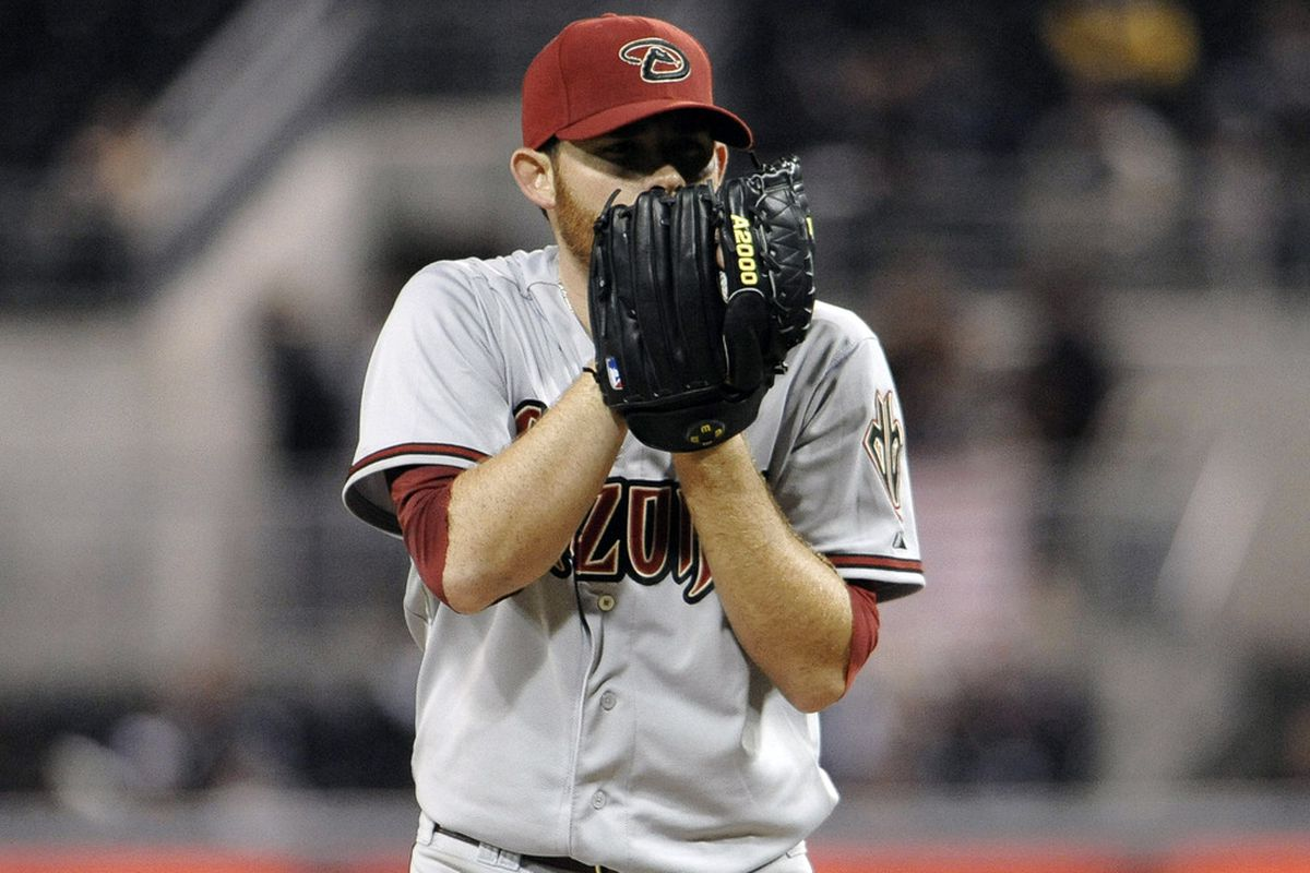 SAN DIEGO, CA - APRIL 12:  Ian Kennedy #31 of the Arizona Diamondbacks pitches during the fourth inning of a baseball game against the San Diego Padres at Petco Park on April 12, 2012 in San Diego, California. (Photo by Denis Poroy/Getty Images)