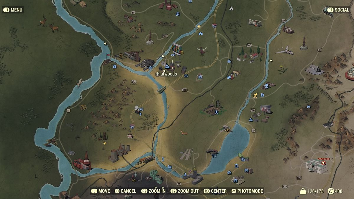 Flatwoods vendor location map