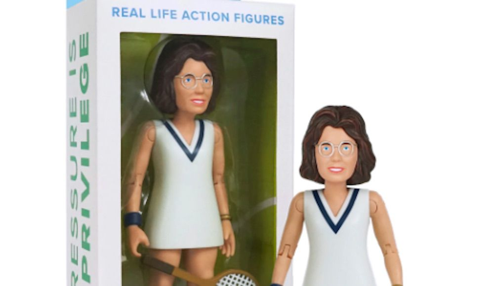 Billie Jean King, action figure, lesbian, tennis player, gay, toy, FCTRY