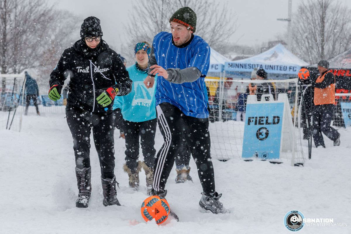 February 9, 2020 - Saint Paul, Minnesota, United States - Scenes from the 3rd annual Surly Boot Soccer Tournament at Allianz Field.