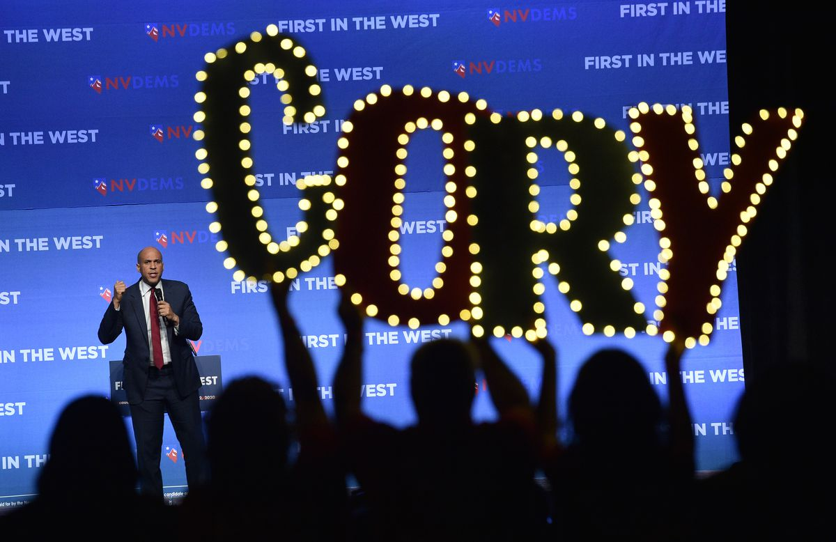 "Cory Booker attends the ""First In The West"" Event In Las Vegas"