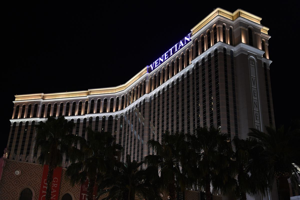 FILE - Photo shows the Venetian Resort Hotel Casino. The State of Nevada has accused CG Technology of violating state regulations. CGT operates the sports book at the Venetian, and six other casinos.