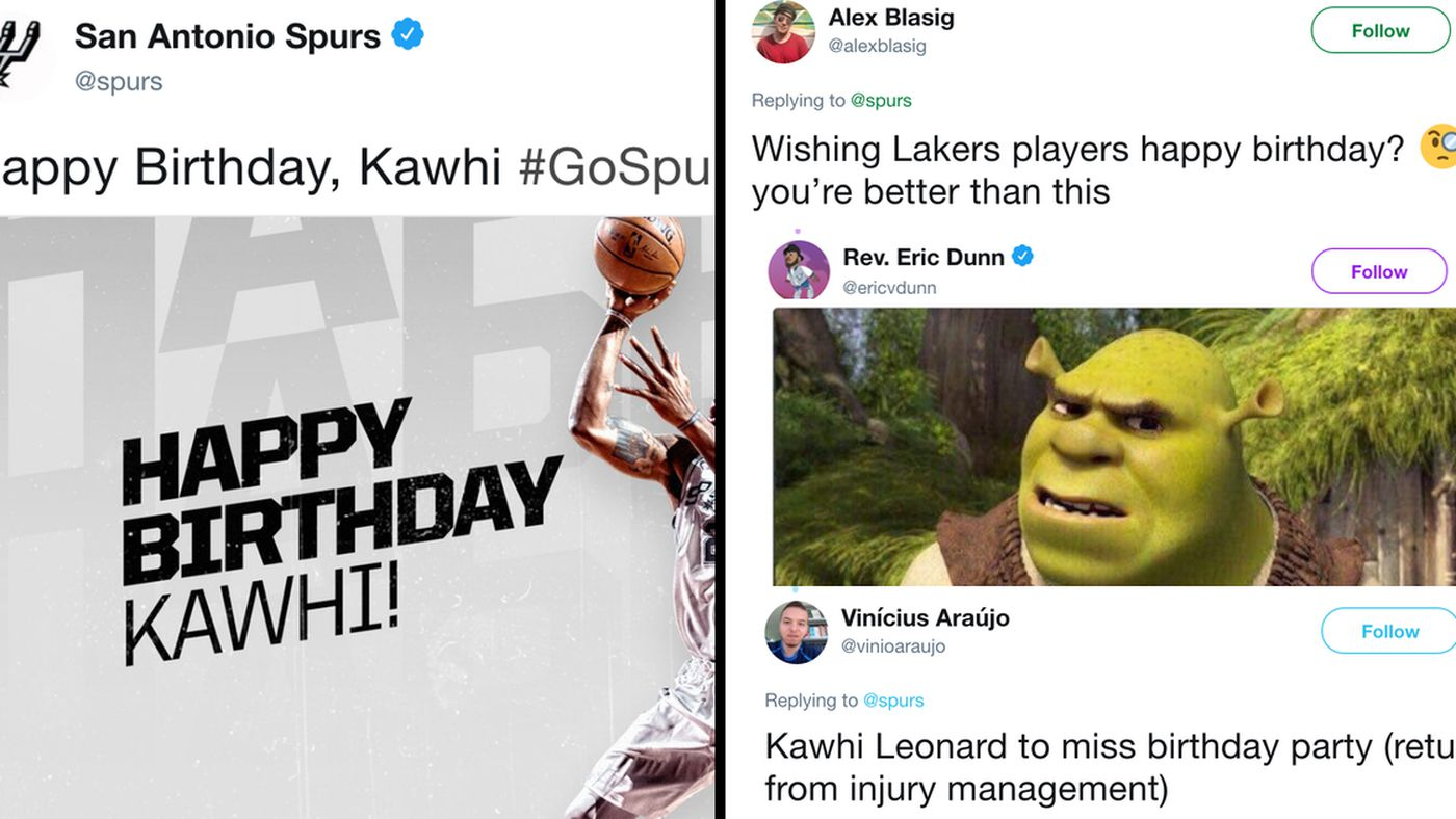 Spurs Wished Kawhi Leonard Happy Birthday On Twitter And The