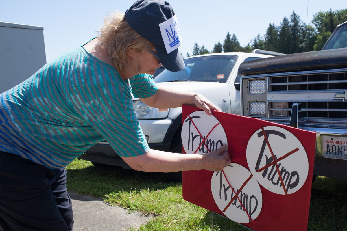 GOP Republican Candidate Donald Trump Holds Rally In Lynden, Washington