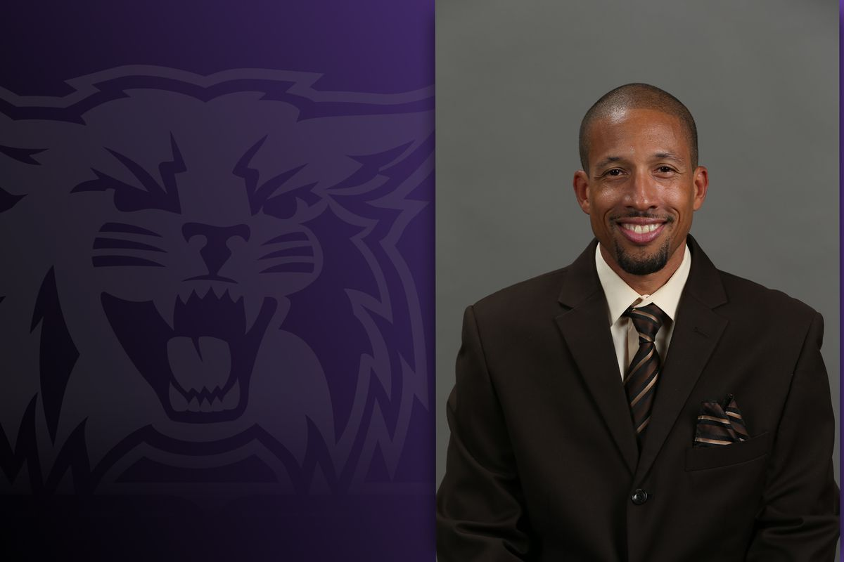 Darryl Brown poses for his headshot. Brown was announced as a new addition to the Weber State coaching staff.