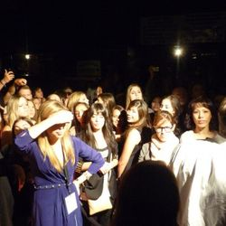 The desperate crowd still waiting outside Piperlime near the end of the night