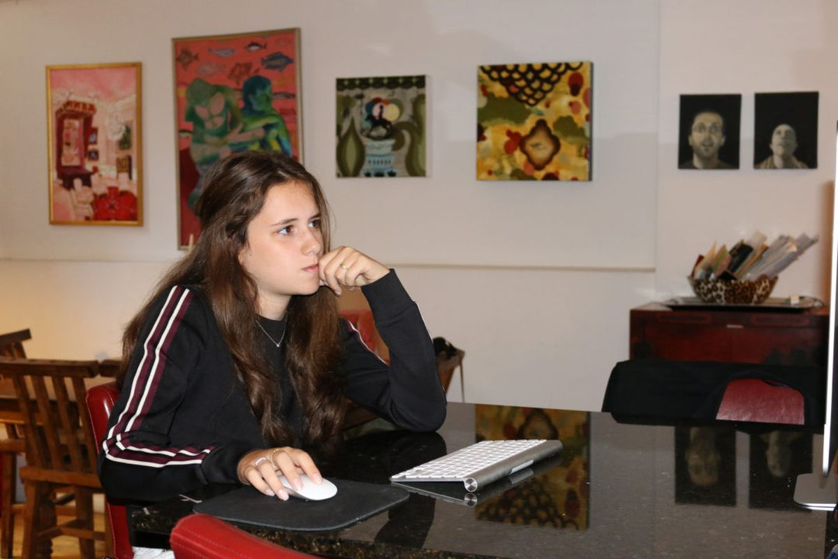 HSAS student Ruby Bromberg, seen here in 2016, worries about small class sizes at the school.