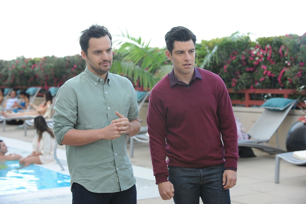Jake Johnson and Max Greenfield on New Girl.