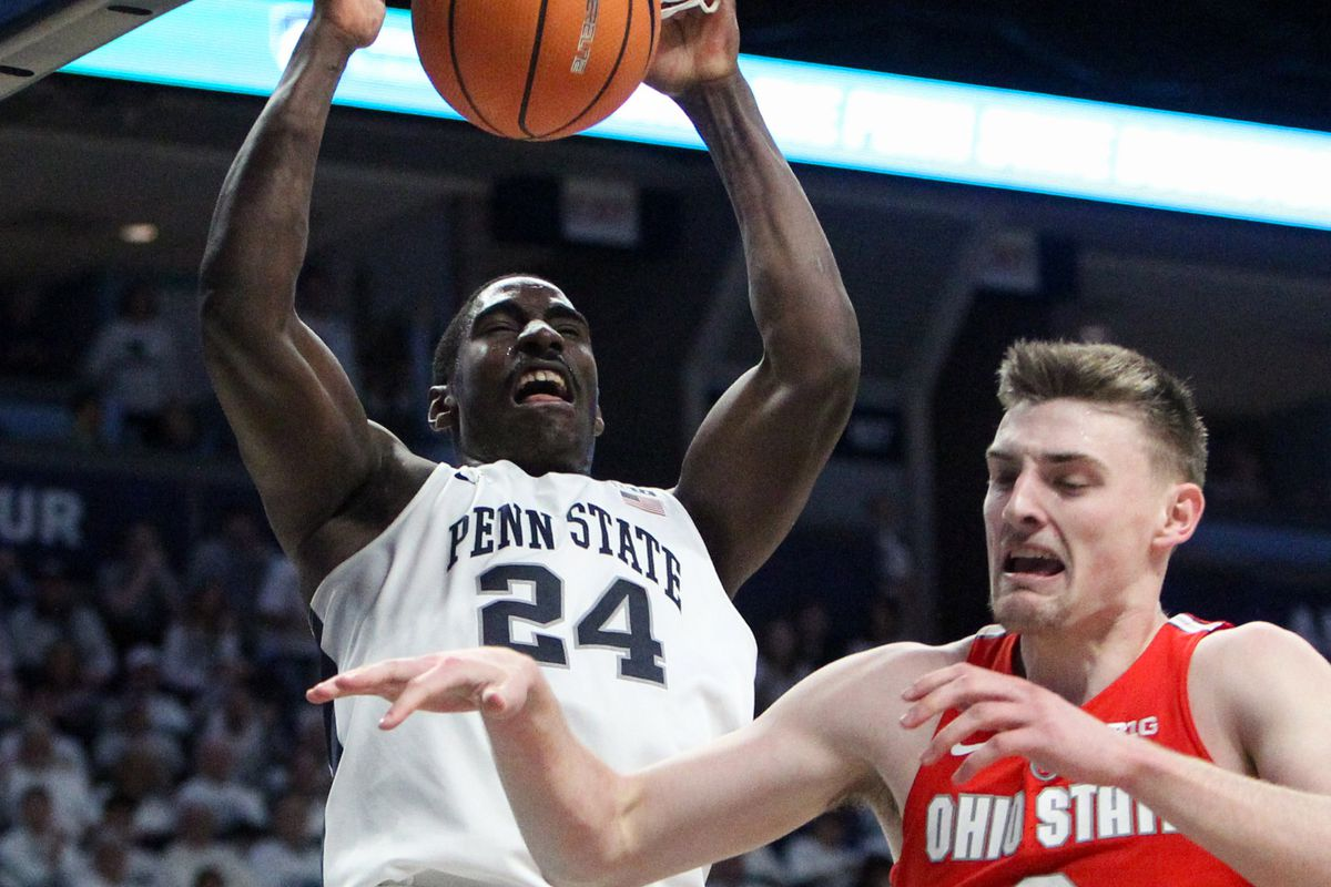 mike watkins out indefinitely for penn state basketball - black shoe