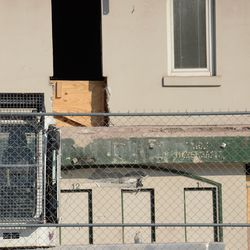 12:24 p.m. A closer view of where the wall has been opened up, above the ticket windows -